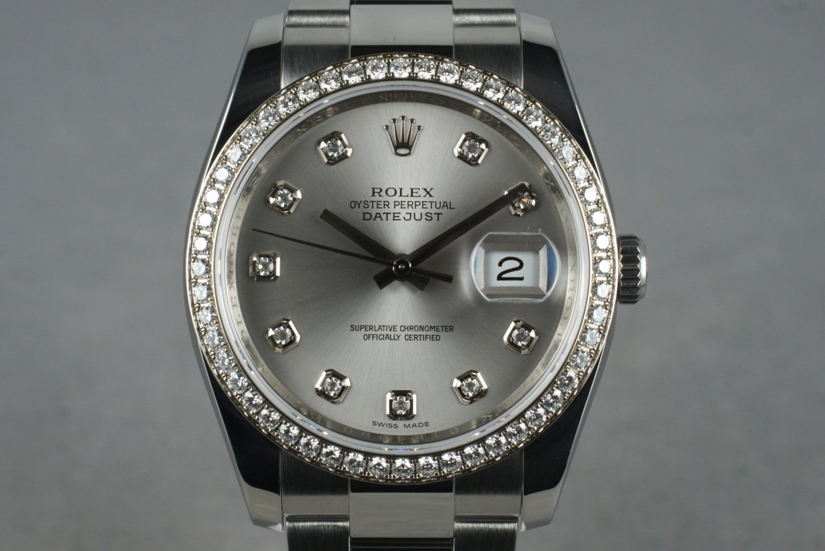 2010 Rolex DateJust 116244 Diamond Dial and Bezel with Box and Papers photo, #0