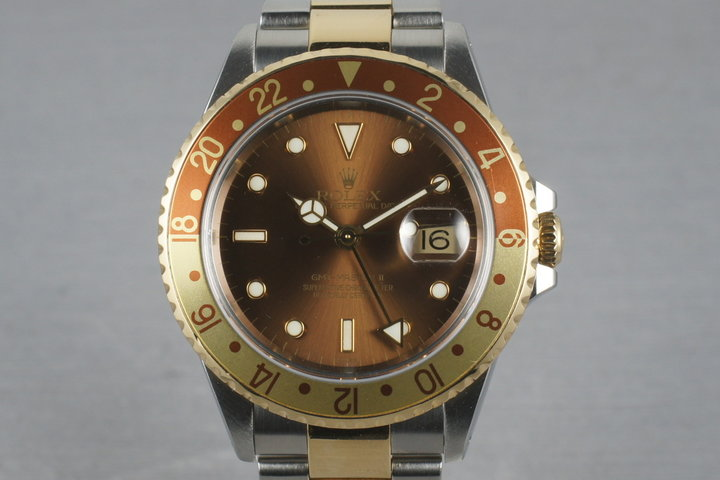 2002 Rolex Two Tone GMT Master II 16713 Root Beer photo