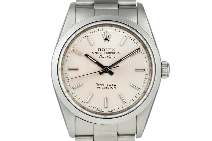 "1991 Rolex Air-King 14000 ""Tiffany"" Dial with Box and Papers photo"