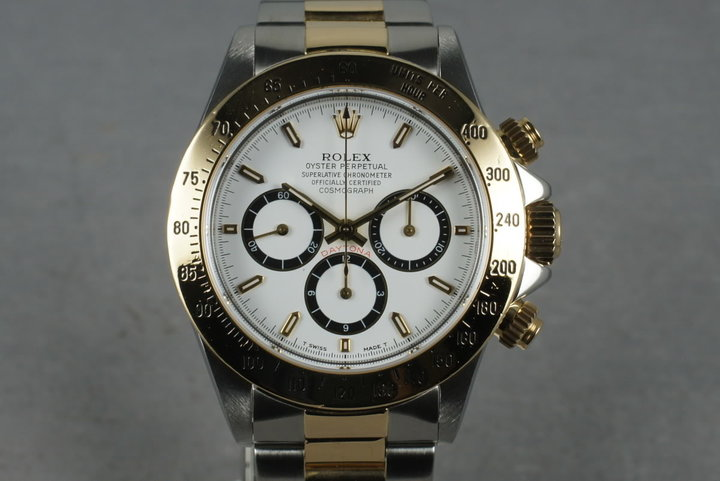 1993 Rolex 18k/SS  Zenith Daytona 16523 with Box and Papers photo
