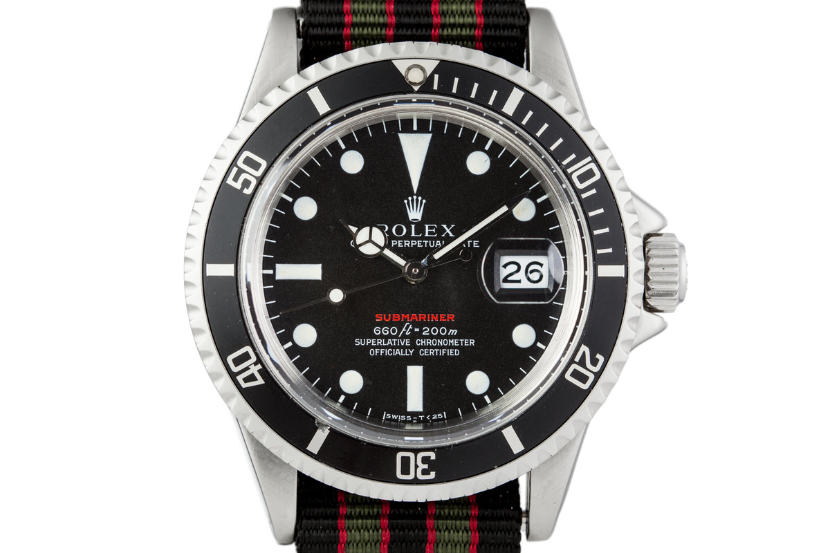 1972 Rolex Red Submariner 1680 Mark IV Dial photo, #0
