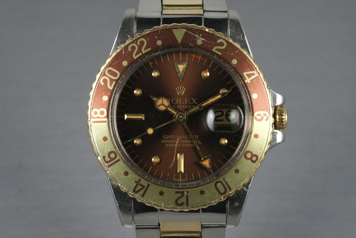 1979 Rolex Two Tone GMT 1675 with Root Beer Dial photo