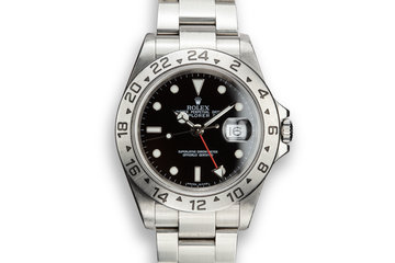 2003 Rolex Explorer II 16570 T Black Dial photo