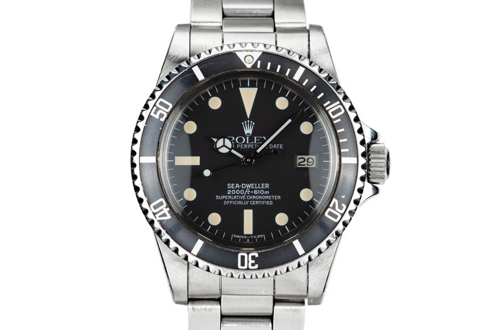 1972 Rolex Sea-Dweller 1665 with Service Papers photo