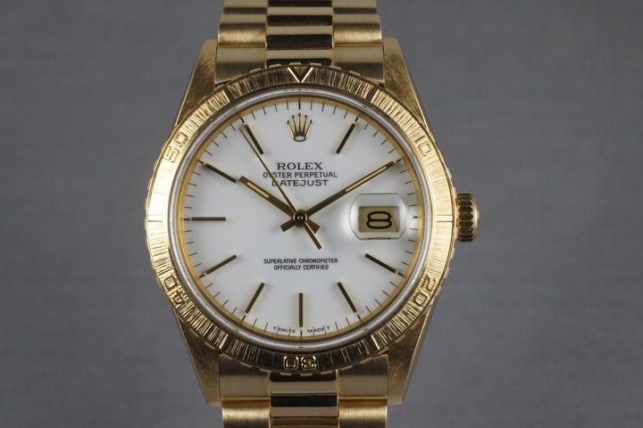 1980 Rolex YG Thunderbird 16258 with President Band photo