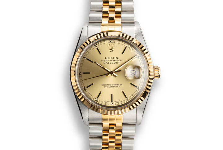 1997 Rolex Two-Tone DateJust 16233 Champagne Dial photo