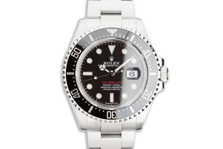 2018 Unpolished Rolex Red Sea-Dweller 126600 with Box & Card photo