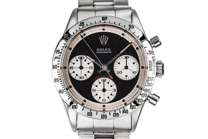 "1968 Rolex Daytona 6239 ""Paul Newman"" with Black Dial and Purchase Papers photo"