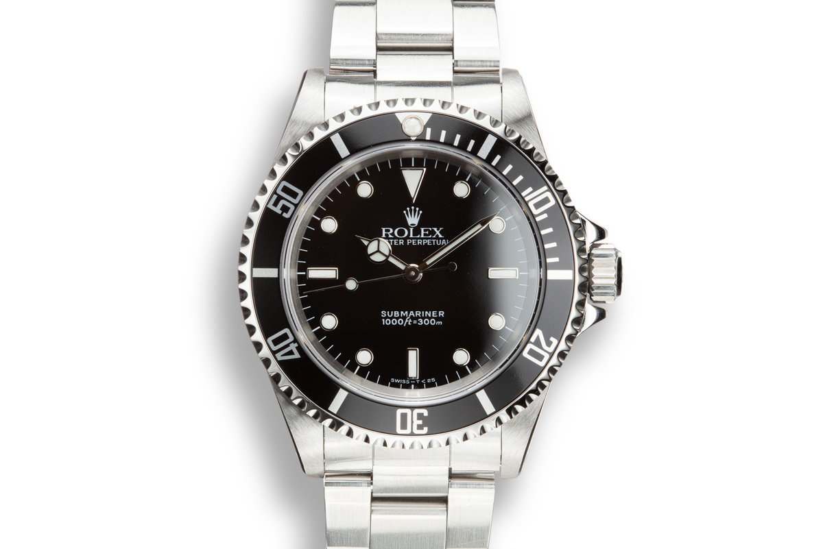 1990 Rolex Submariner 14060 with Service Papers photo, #0