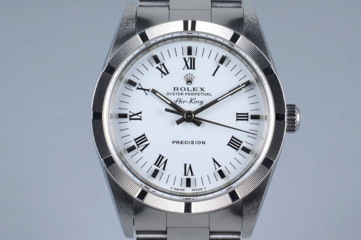 2001 Rolex Air-King 14010M White Roman Dial photo