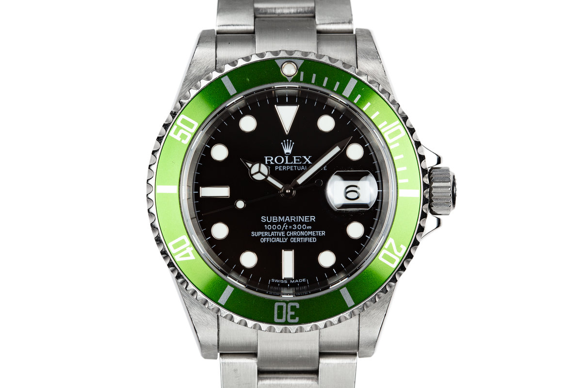 2006 Rolex Anniversary Green Submariner 16610LV with Box and Lime Green Bezel photo, #0