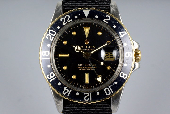 1979 Rolex Two Tone GMT 1675 Black Nipple Dial photo