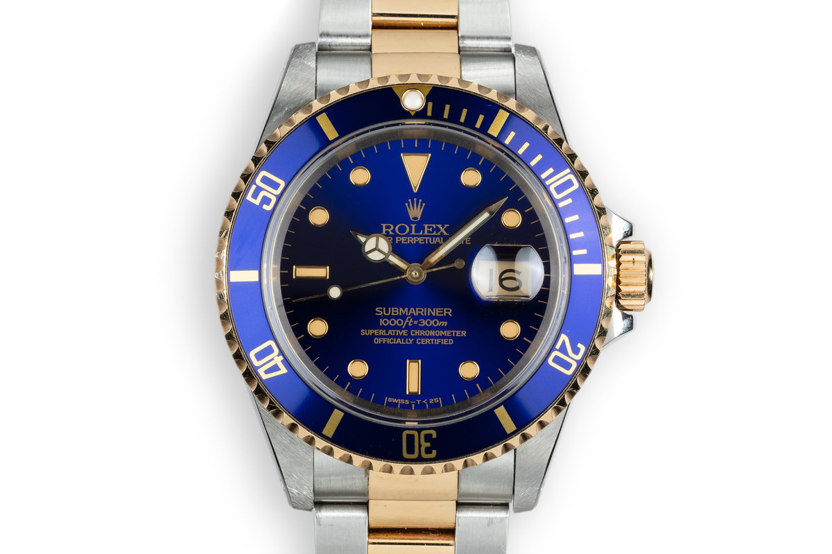 1991 Rolex Two-Tone Submariner 16613 Blue Dial photo, #0