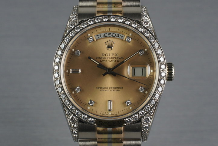 1986 President 18139 TRIDOR with Factory Diamond Lugs, Dial, and Bezel photo