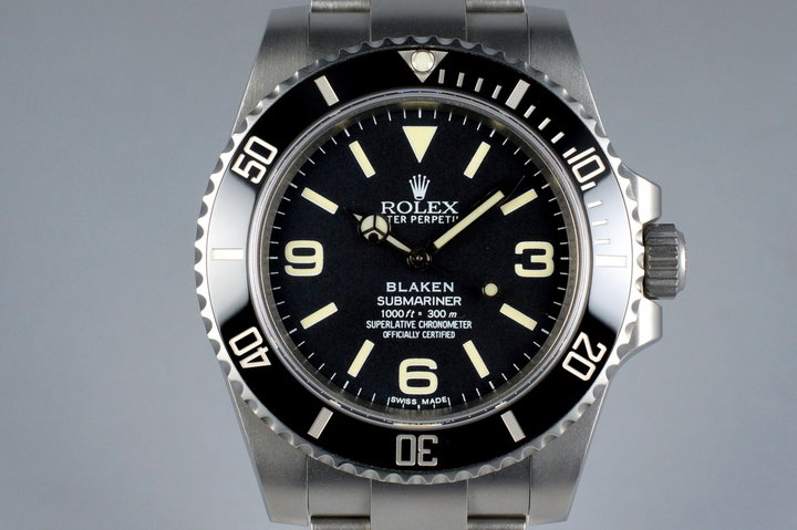 2013 Blaken Rolex Submariner 'Explorer Dial' with Blaken Box and Papers photo