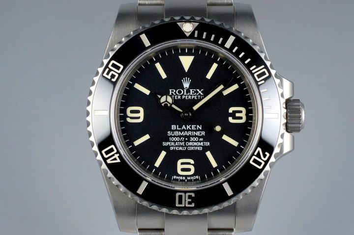 2013 Blaken Rolex Submariner 'Explorer Dial' with Blaken Box and Papers photo