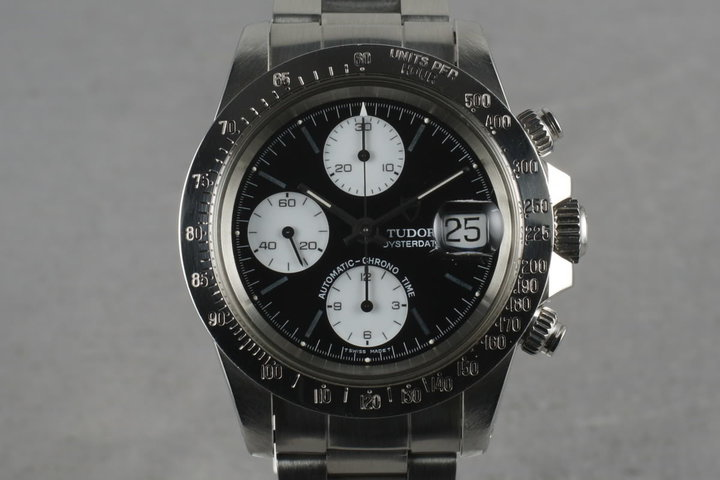 1993 Tudor Chronograph Big Block 79180 With Black Dial photo