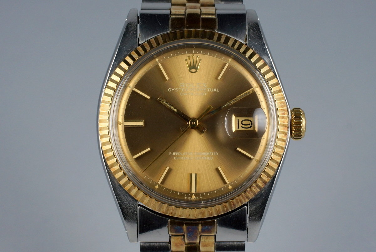 1971 Rolex Two Tone DateJust 1601 with Brown Dial photo, #0