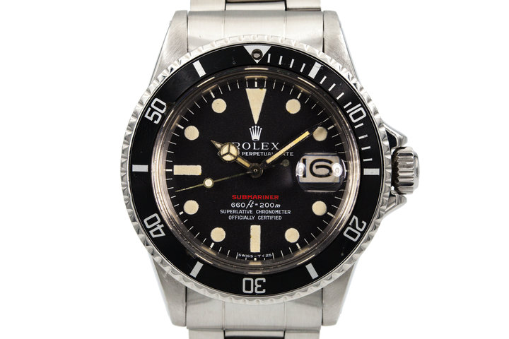 1970 Rolex Red Submariner Mark IV Dial photo