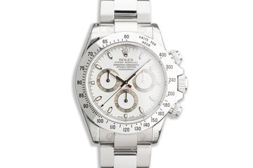 2007 Rolex Daytona 116520 White Dial with Box & Papers photo