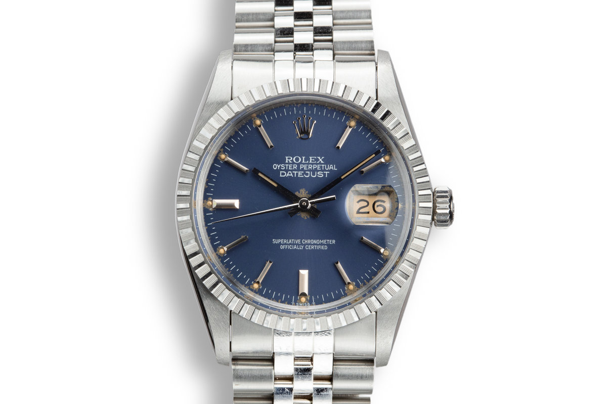 1984 Rolex DateJust 16030 Blue Dial with Box and Papers photo, #0