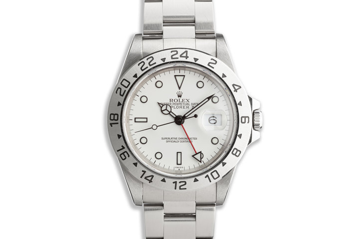 "1999 Rolex Explorer II 16570 ""Polar"" White Dial photo"