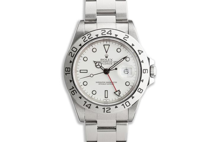 """1999 Rolex Explorer II 16570 """"Polar"""" White Dial photo"""