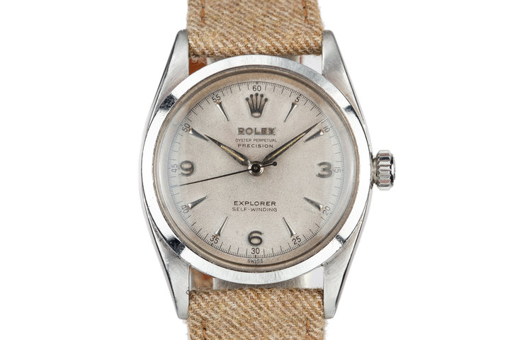1953 Rolex Explorer 6298 with Silver Explorer SWISS Only Dial photo