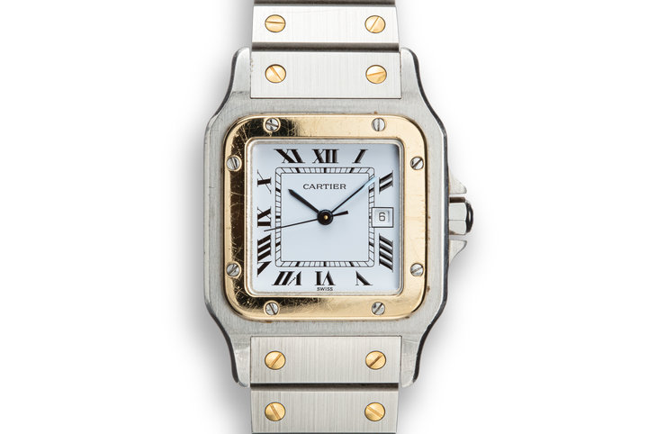 1987 Cartier Two-Tone Santos Les Must De Cartier W20011C4 with Papers photo