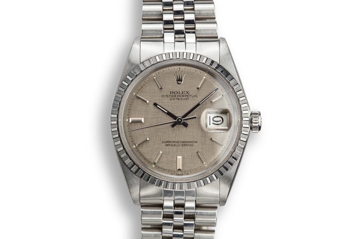 1972 Rolex DateJust 1603 with Grey Linen Sigma Dial photo, #0