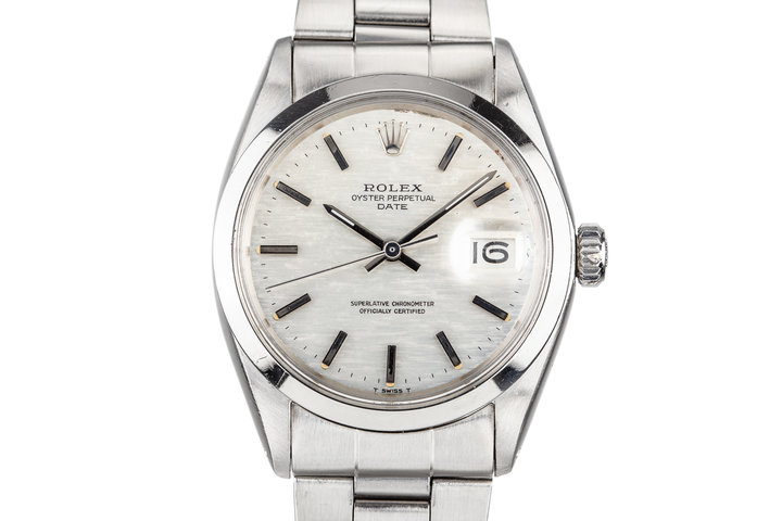 1970 Rolex Date 1500 with Silver Mosaic Dial photo