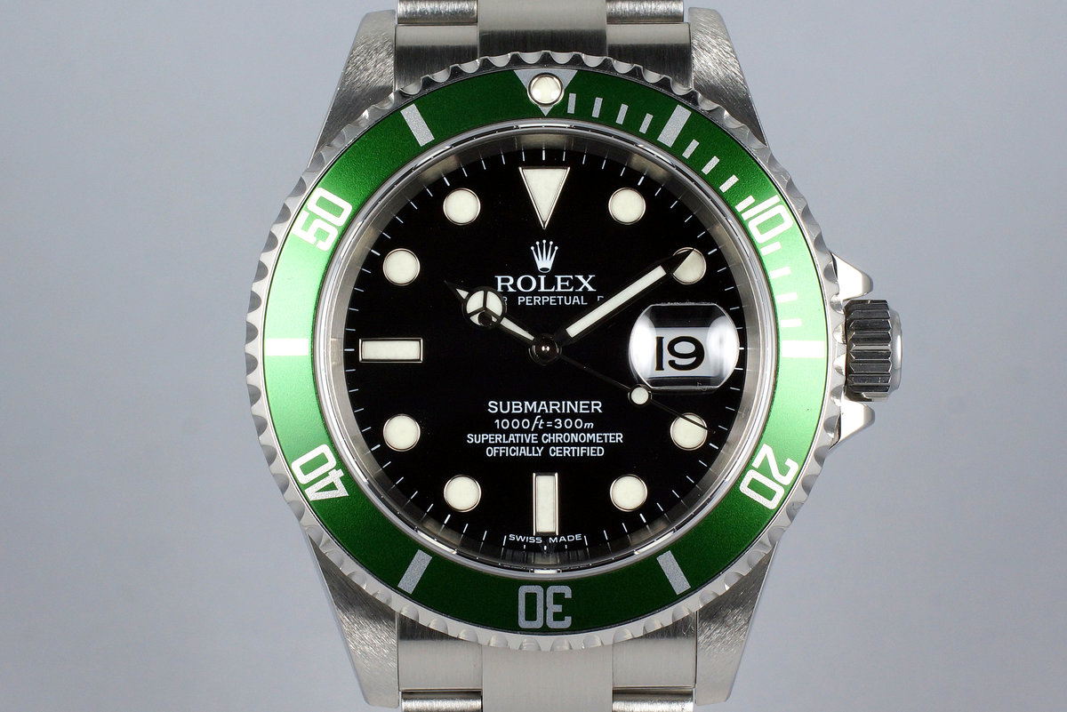 2006 Rolex Green Submariner 16610 LV photo, #0