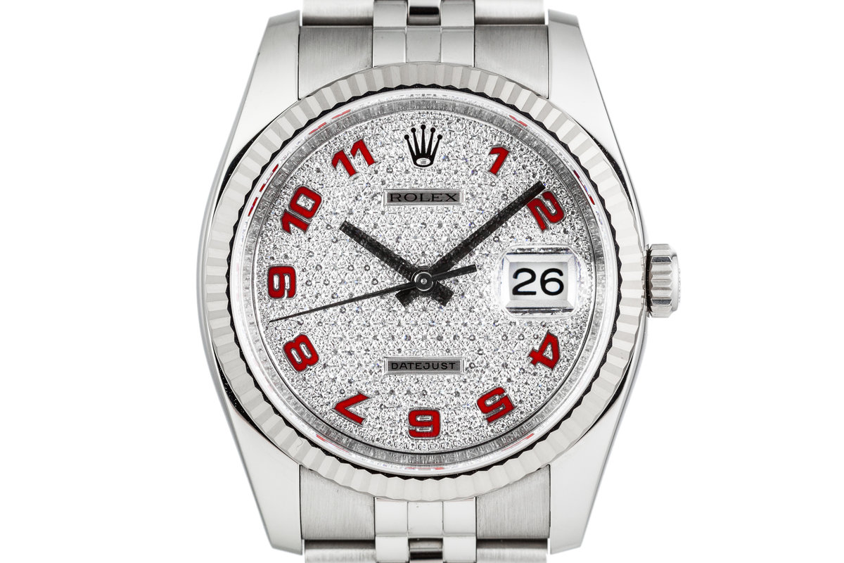 Rolex DateJust 116234 with Factory Paved Diamond Dial photo, #0
