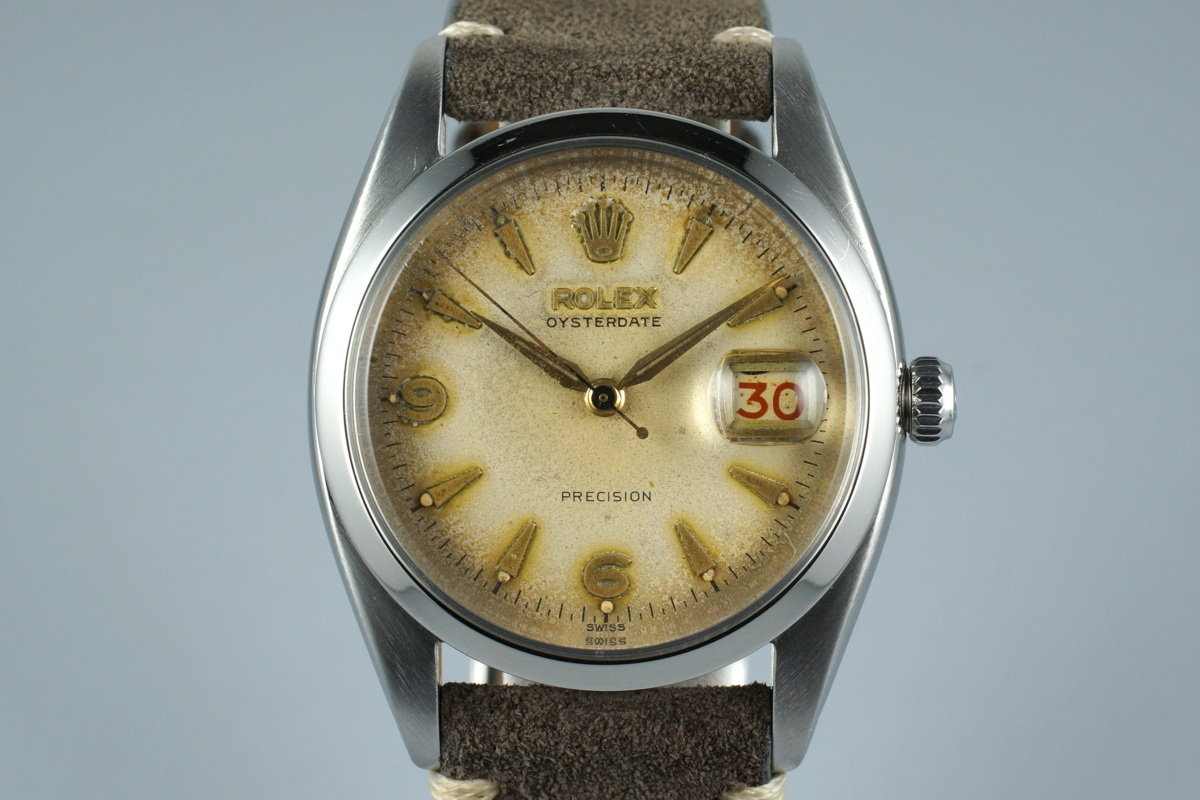 1954 Rolex OysterDate 6494 with Tropical Dial photo, #0