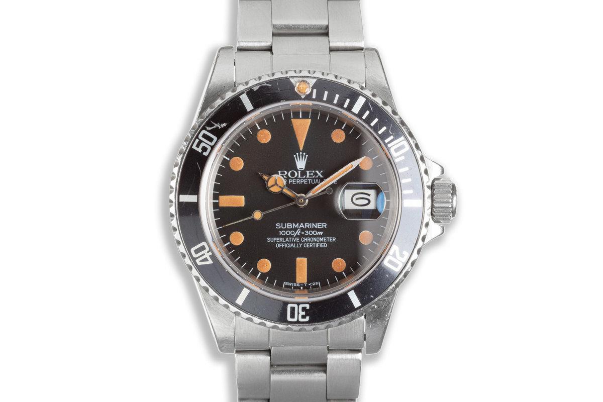 1983 Rolex Submariner Unpolished 16800 Matte Pumpkin Dial photo, #0