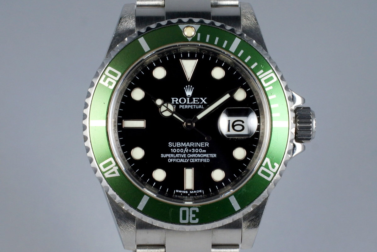 2007 Rolex Green Submariner 16610V photo, #0