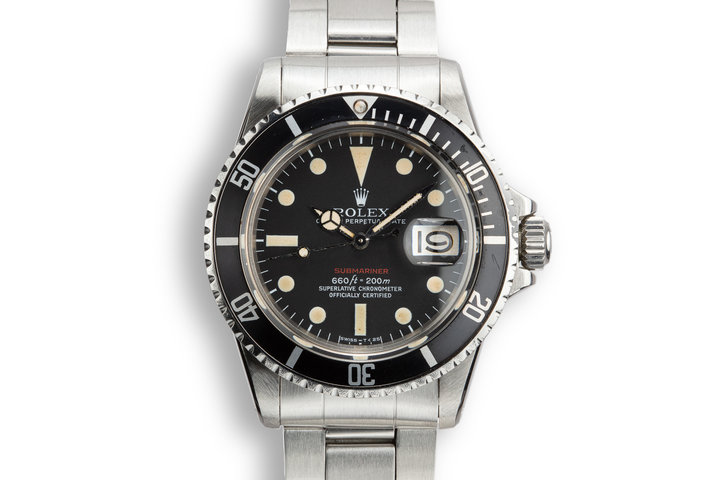 1972 Rolex Red Submariner 1680 MK V Dial photo