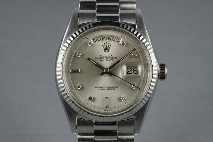1972 Rolex WG Day-Date 1803 with Factory Swiss Diamond Dial photo