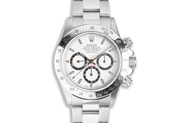 1993 Rolex Zenith Daytona 16520 White Dial with Service Papers & Box photo