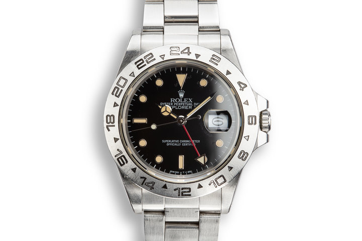 1987 Rolex Explorer II 16550 Black Dial with Box and Papers photo