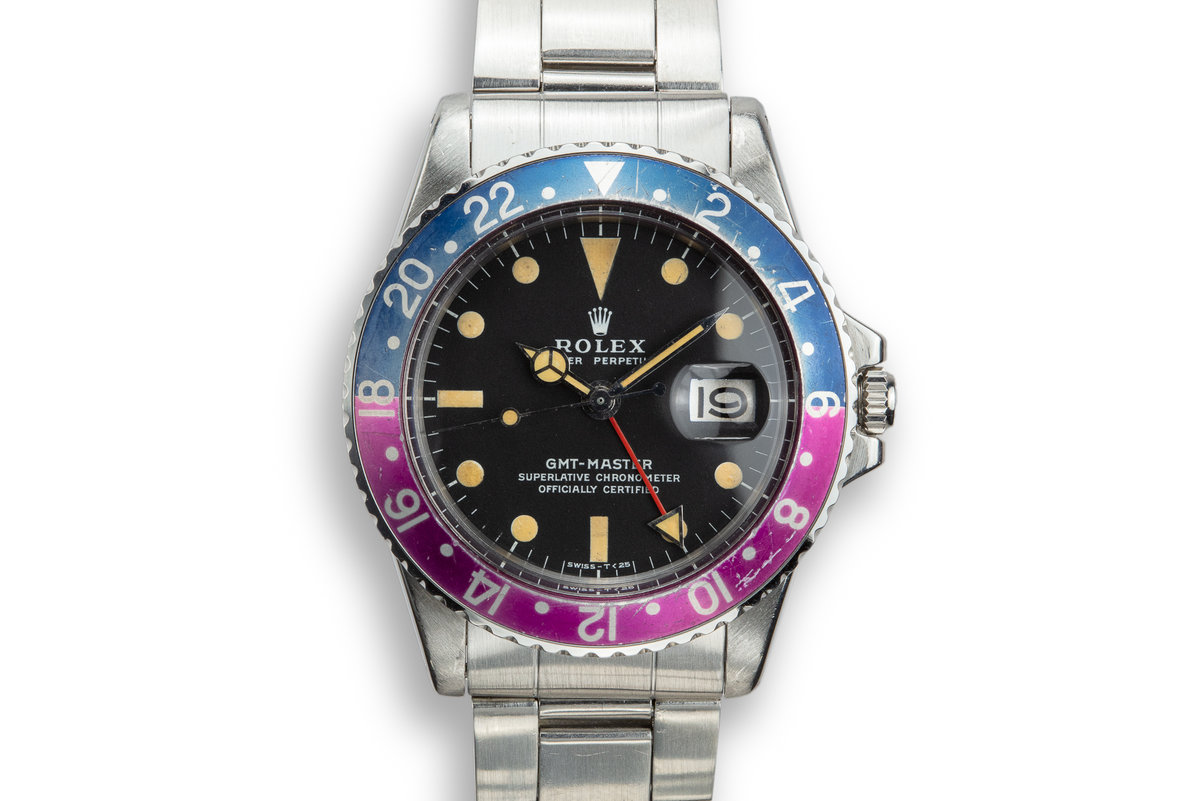 """1972 Rolex GMT-Master 1675 """"Fuchsia"""" with Box and Papers photo, #0"""