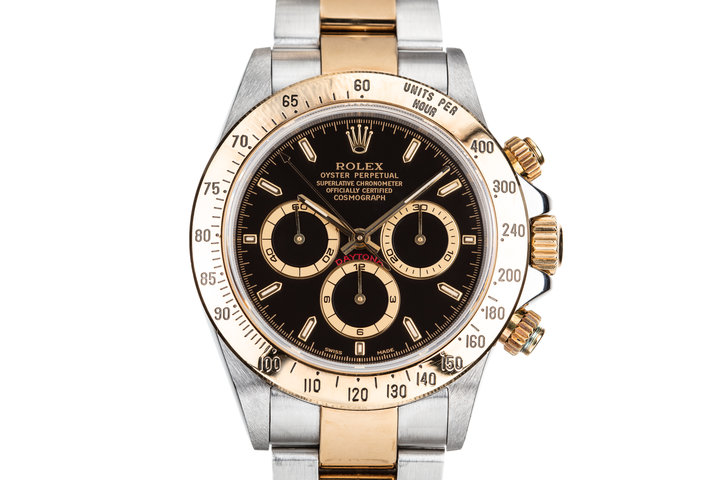 1999 Rolex Two Tone Daytona 16523 Black Dial photo
