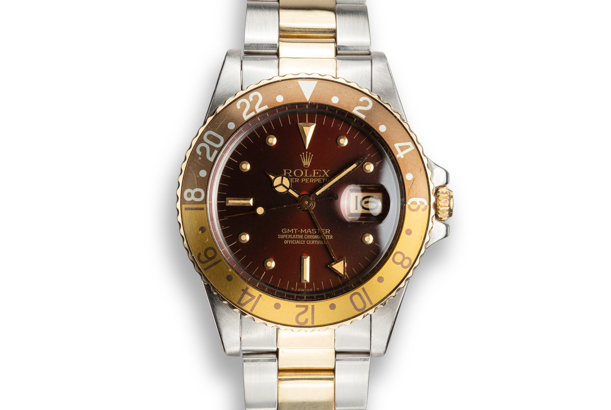 1979 Rolex Two-Tone GMT-Master 16753 with Rootbeer Nipple Dial photo, #0