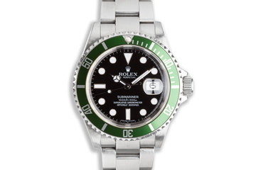 2007 Green Rolex Submariner 16610T with Box and Papers photo