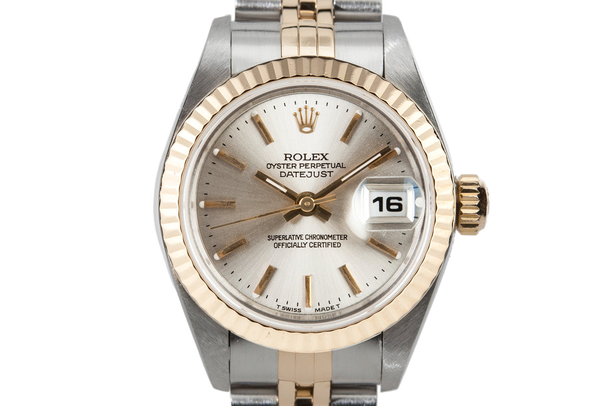 1995 Rolex Two Tone Ladies DateJust No-Lume Silver Dial with Box and Papers photo, #0