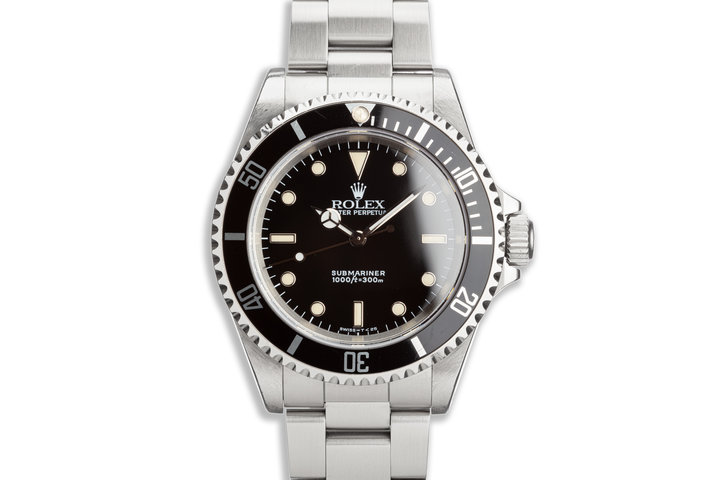 1991 Unpolished Rolex Submariner 14060 photo