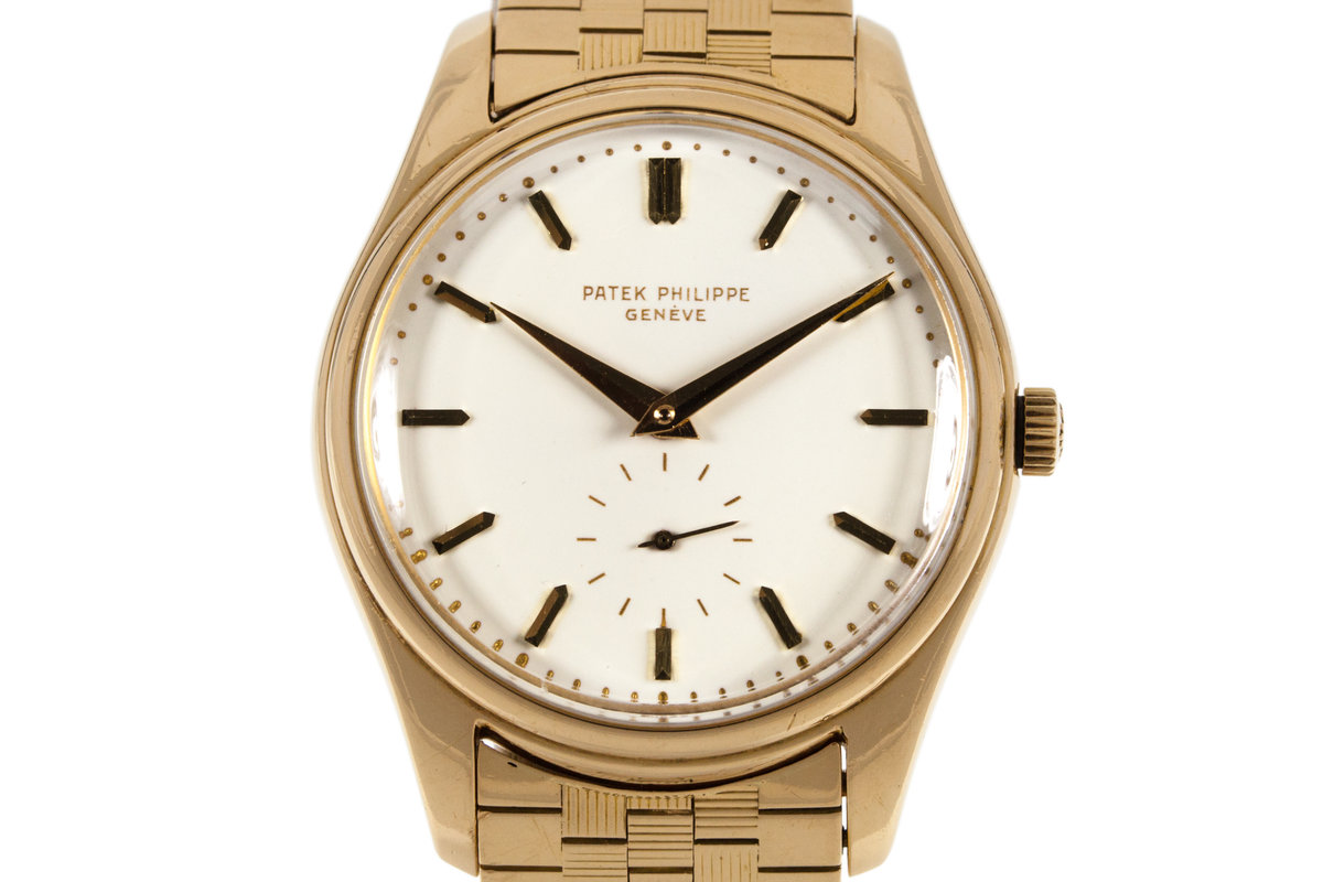 1955 YG Patek Philippe Calatrava 2526 Automatic with White Enamel Dial with Archive Papers photo, #0