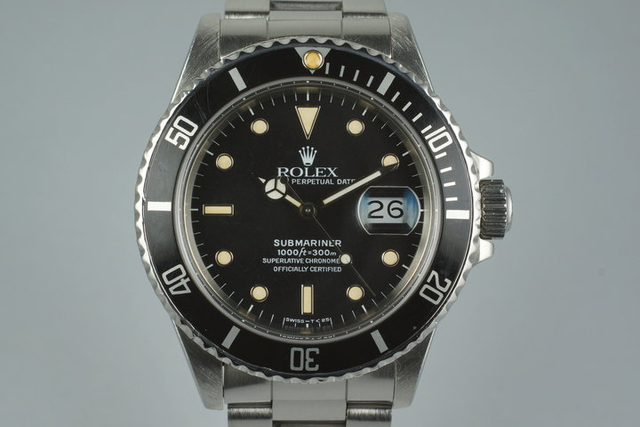 1988 Rolex Submariner 168000 with Box and Papers photo