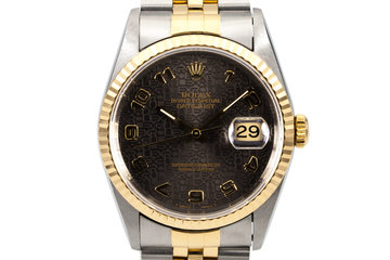 1995 Rolex Two Tone DateJust 16233 Charcoal Computer Dial with Box and Papers photo