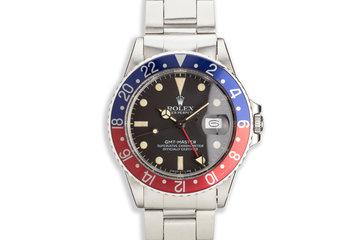 "1982 Vintage Rolex GMT-Master 16750 ""Pepsi"" Matte Dial photo"